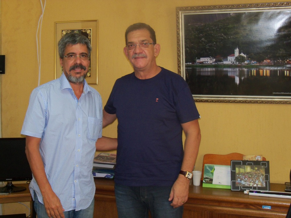 Mannarino recebe visita do Deputado Federal Luiz Sérgio
