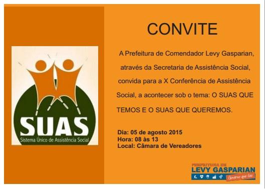 Levy Gasparian realiza X Conferencia de Assistencia Social