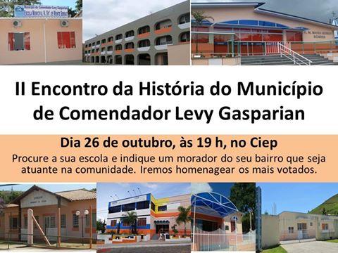 II Encontro da História de Levy Gasparian acontece em outubro