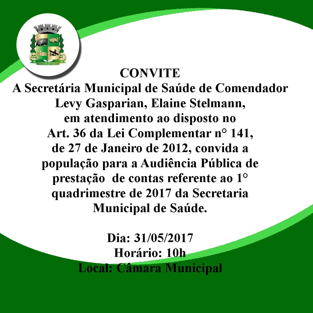 Convite Secretaria  de Saude Elaine