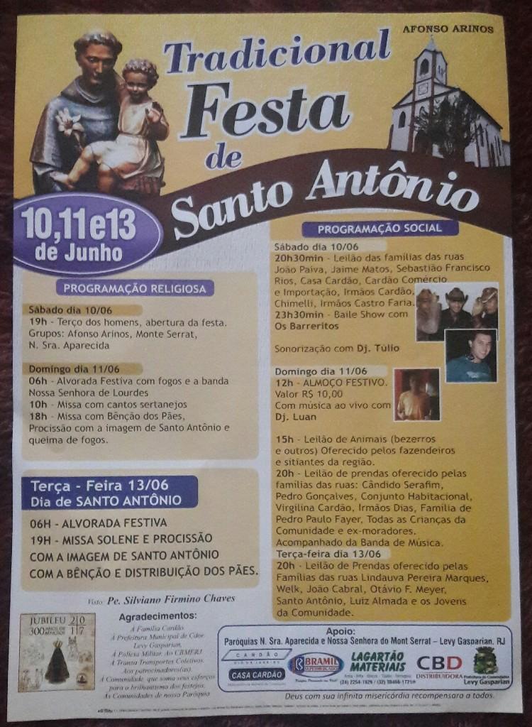 Cartaz Festa Santo Antonio