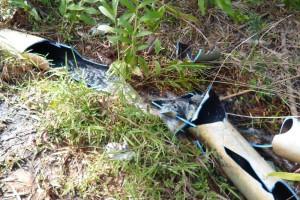 Rede foi danificada em varios pontos