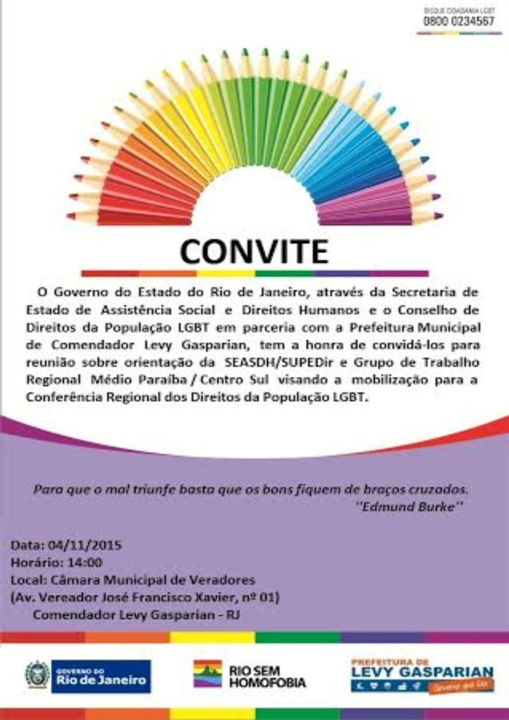 Direitos da população LGBT é tema de reunião em Levy Gasparian